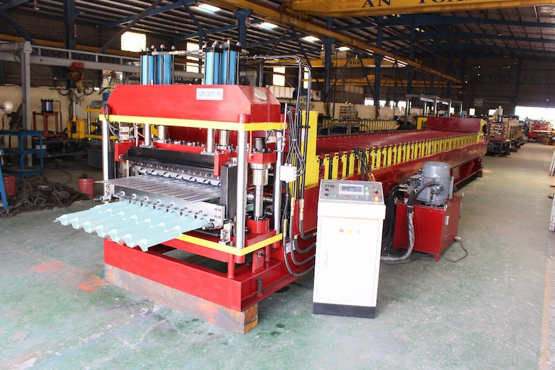 Double Layer Roll Forming Machine Ruby Tile Roofing and Plafond Roofing