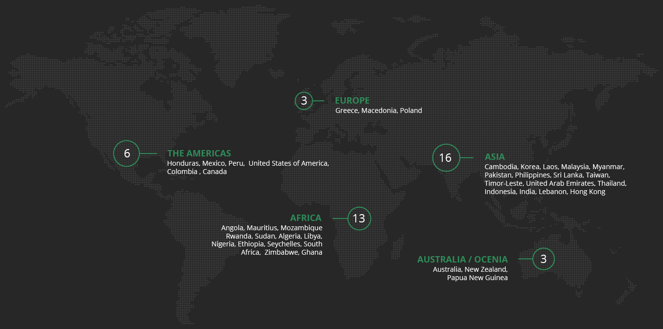 We have worked with more than 300 clients from 40 countries